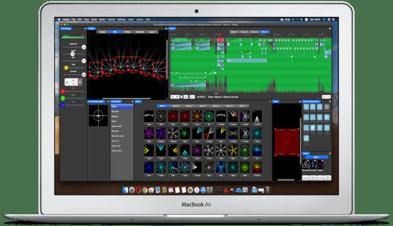 Macbook Air laser show software