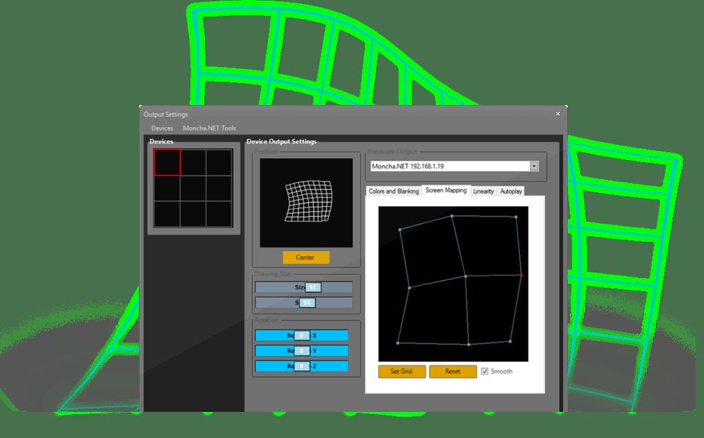 Moncha screen mapping