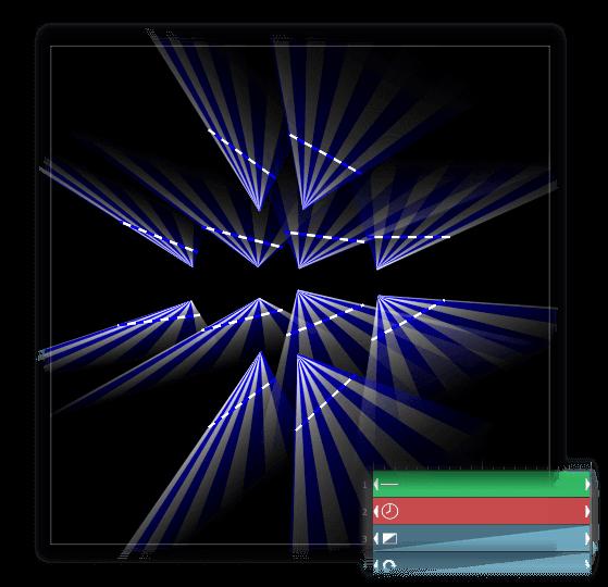 Laser animation time offset