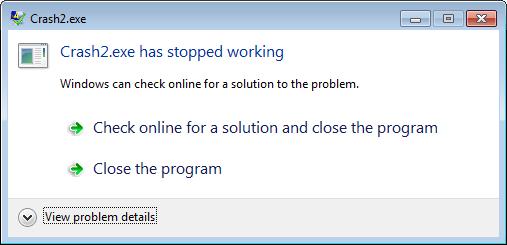 Software Crash Report