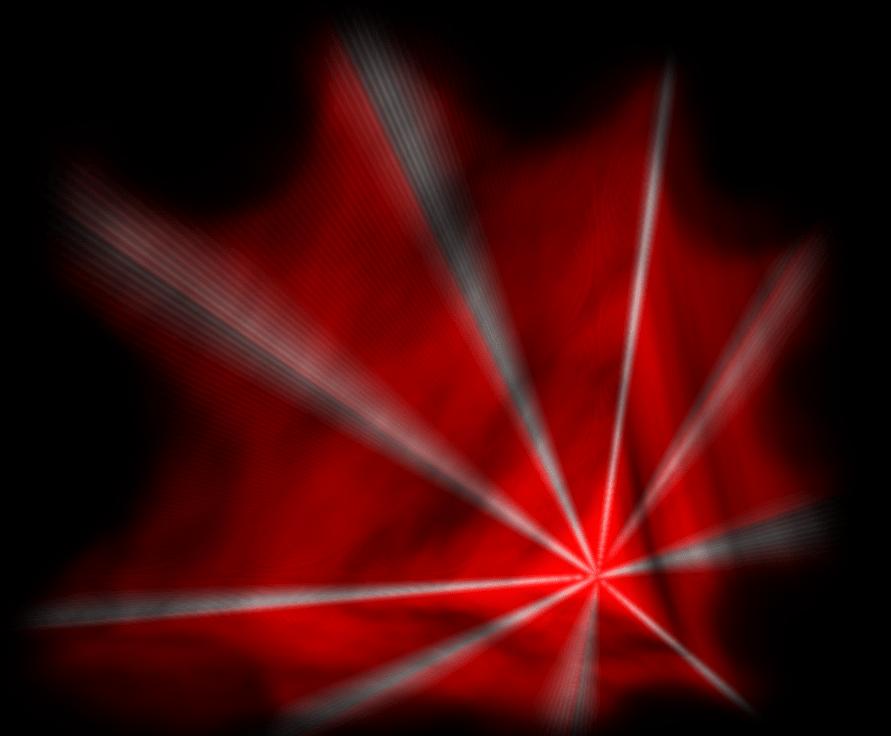 Laser web simulation