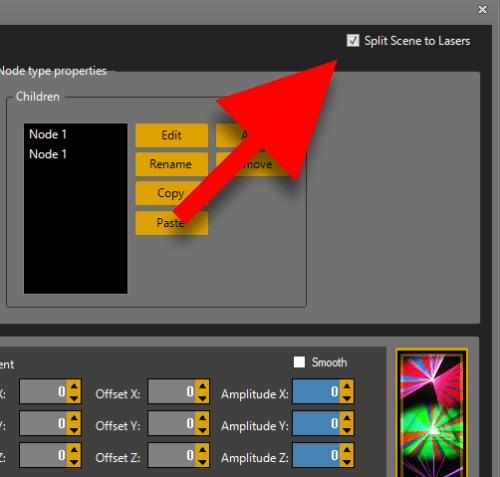 Split image feature