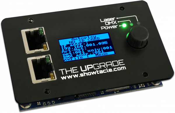 The Upgrade blue display